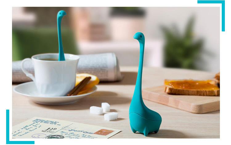 硅胶制品中的新宠尼斯湖水怪茶漏泡茶器