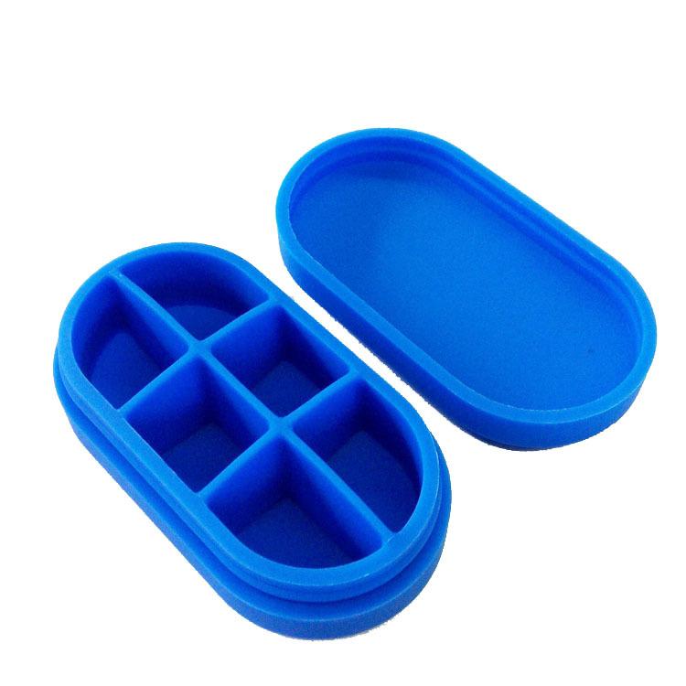 环保硅胶硅胶药盒可定制LOGO热销无毒硅胶产品