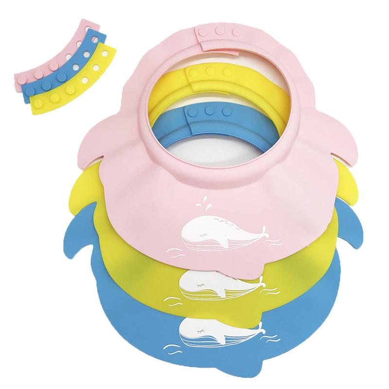 儿童硅胶洗头帽浴室护耳宝宝洗澡帽婴儿防水护眼硅胶浴帽