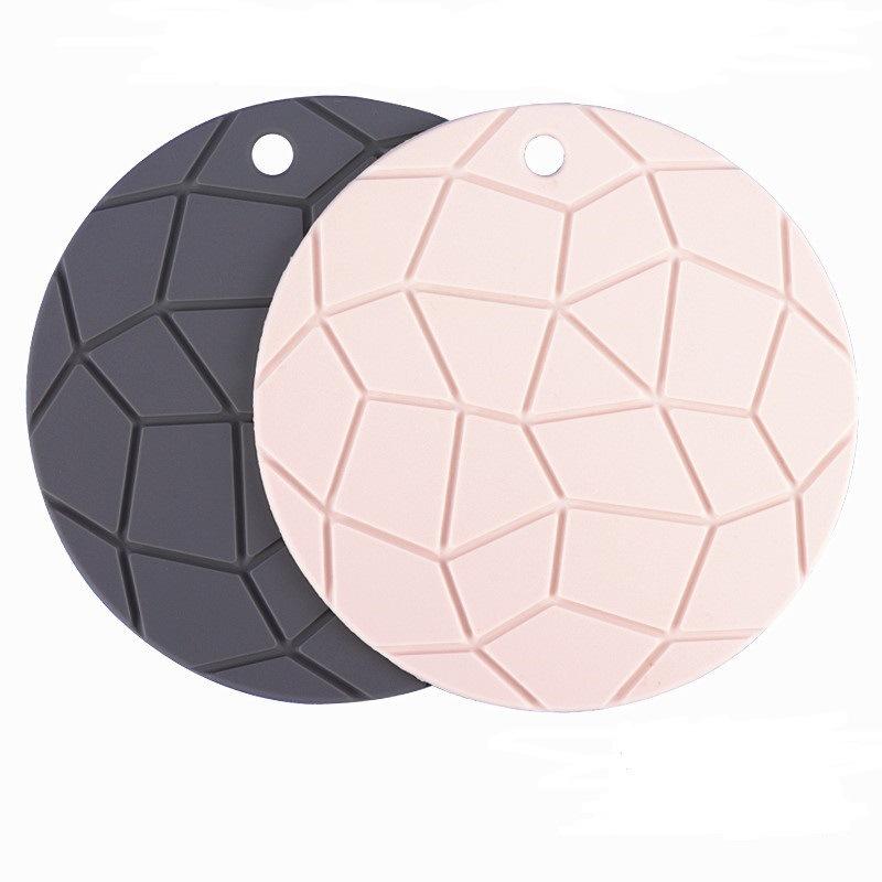 圆形食品级硅胶隔热垫创意龟纹杯垫餐垫餐具防滑垫