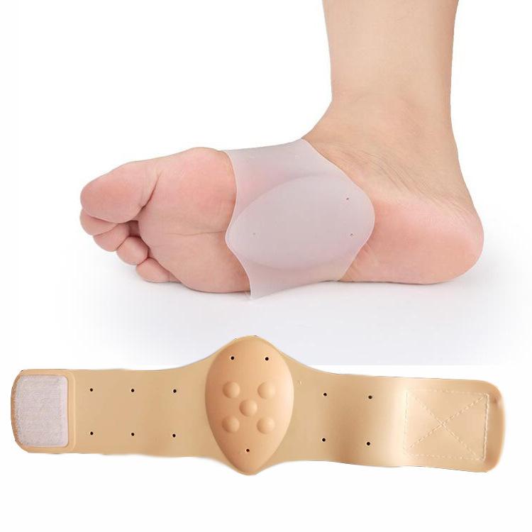 扁平足矫正足弓垫魔术贴硅胶足弓支撑垫按摩脚心垫运动减震足心垫