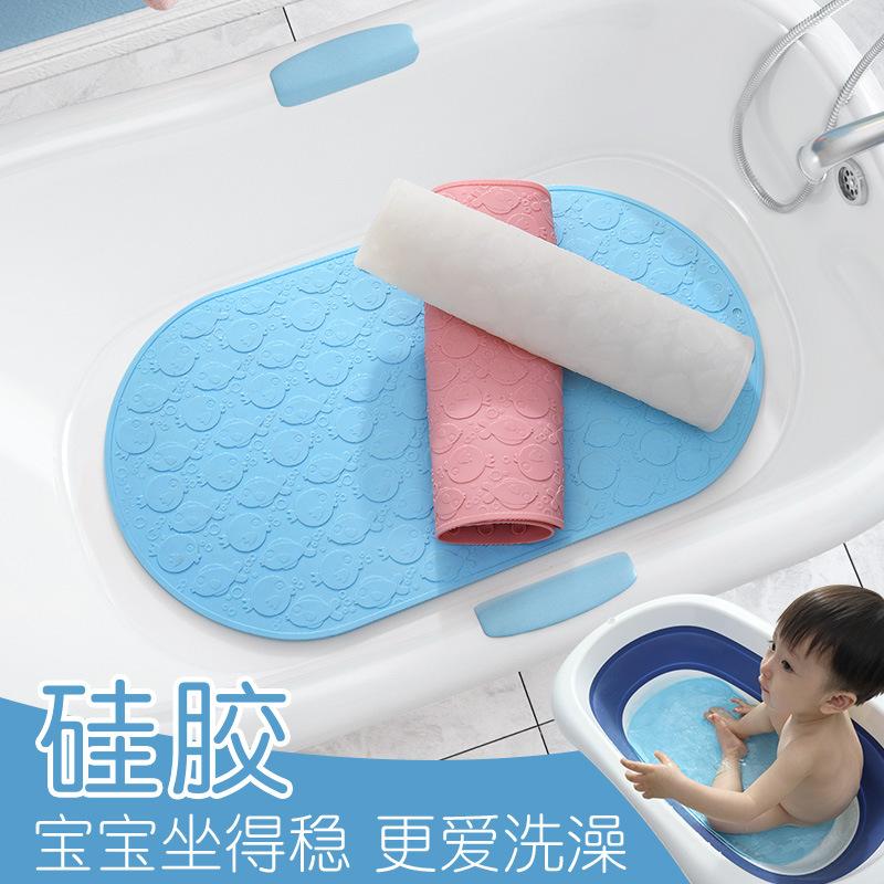 硅胶无味浴盆防滑垫宝宝婴儿洗澡垫子卫生间浴缸淋浴儿童浴室地垫