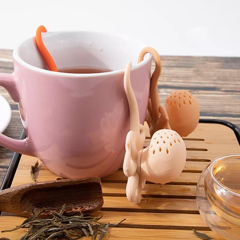 创意新款八爪鱼硅胶泡茶器 厂家章鱼茶包茶漏 章鱼过滤器