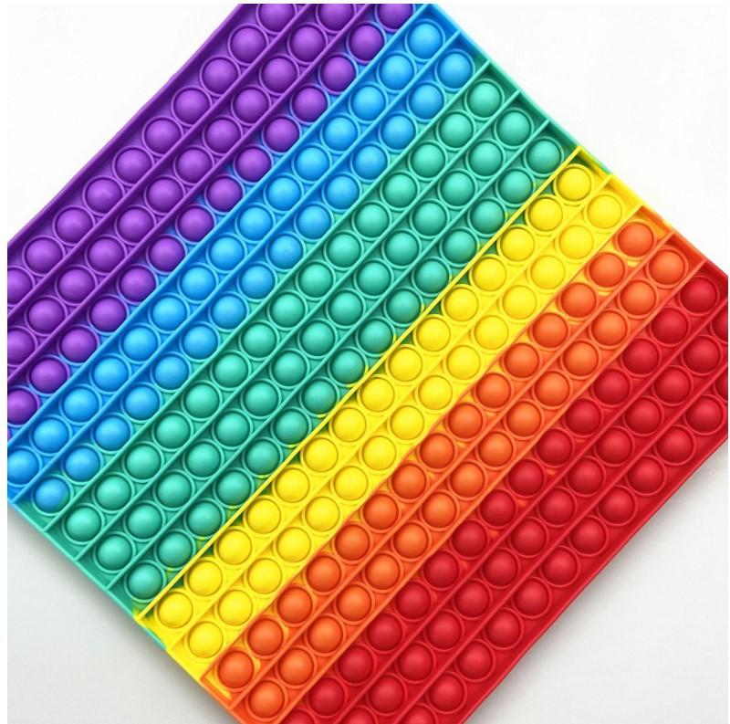 跨境特大号30cm大尺寸彩虹夜光迷彩灭鼠先锋 pop儿童智力玩具