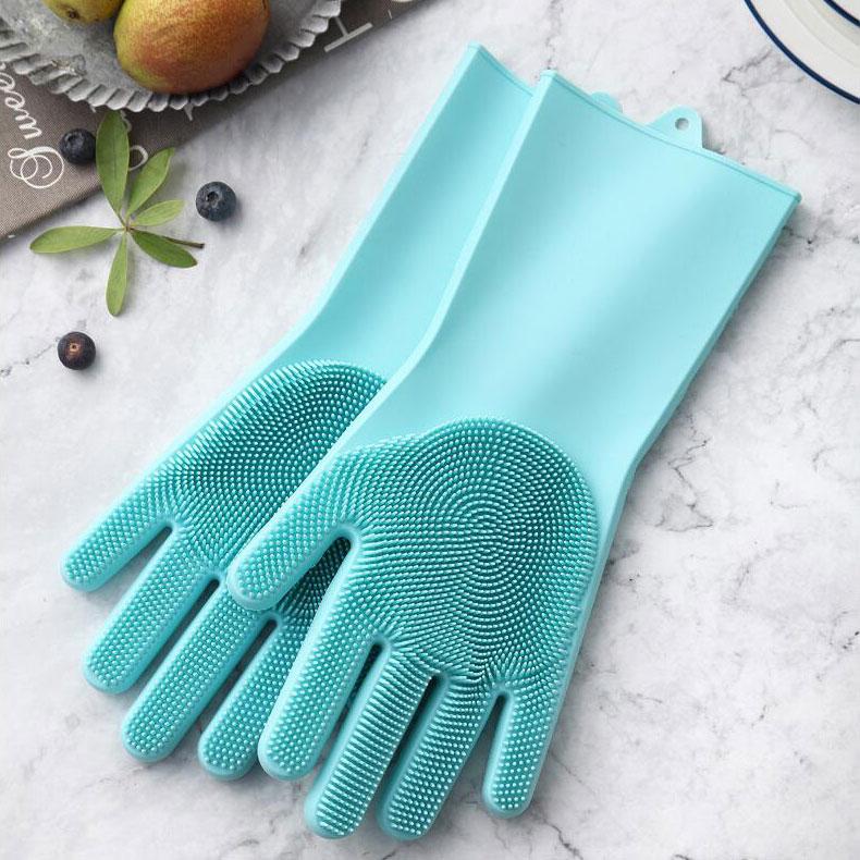 硅胶洗碗刷清洁手套